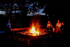 Get back to nature and spend the evening sat around a camp fire