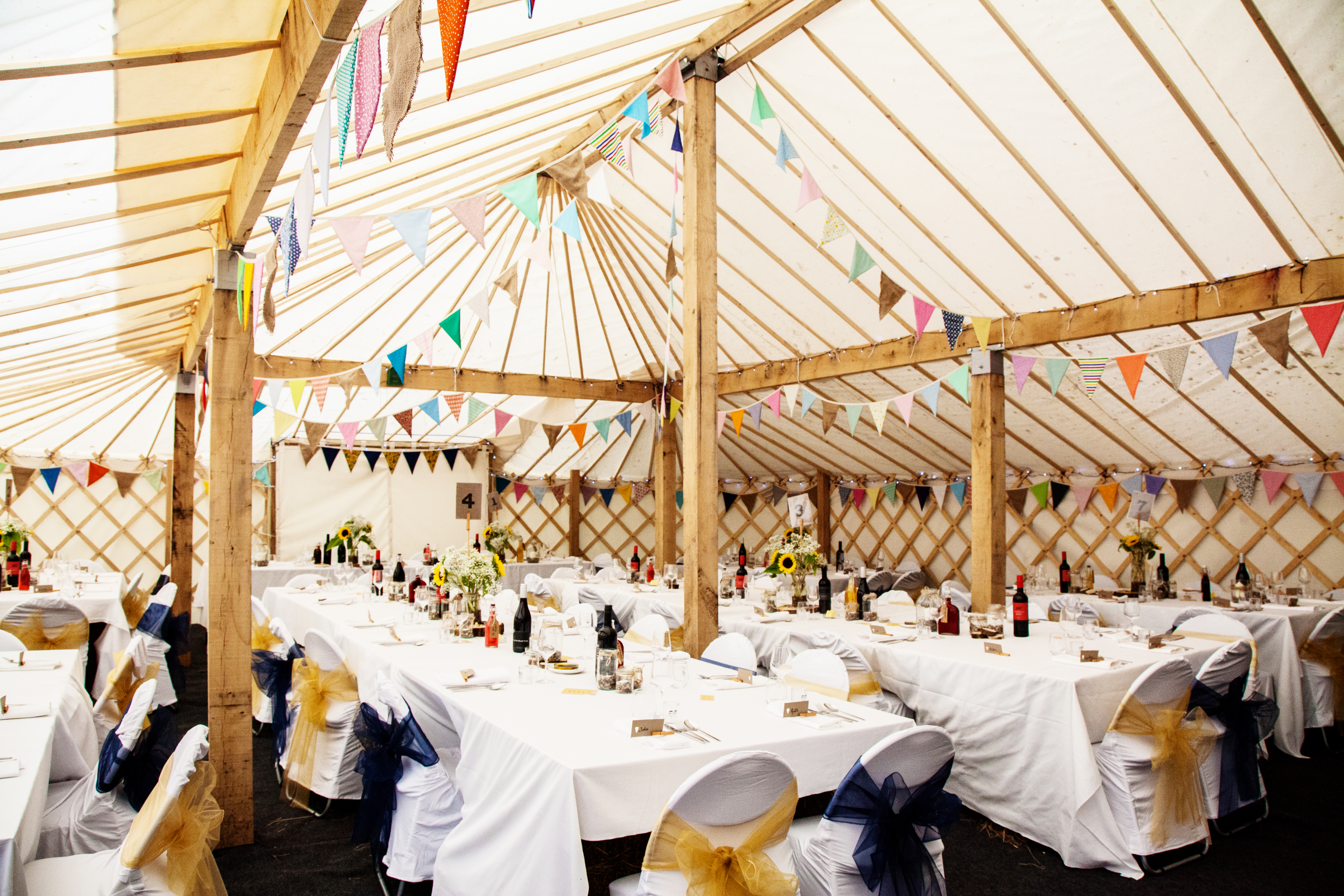 Large Yurt Marquee for weddings and events